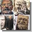 Portraits of Richard Harris, Stelarc and Henri Korn