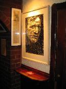 Richard Harris piece by Artist Thomas Delohery,exhibited in Charlie St.George as part of the Richard Harris Tribute Week 2009.