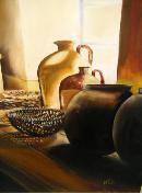 pots in the window