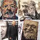 Portraits of Richard Harris, Stelarc and Henri Korn