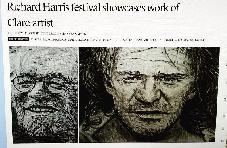Press about Thomas Delohery�s Portraits of Richard Harris