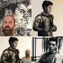 Painting Australian Actor Julian Maroun